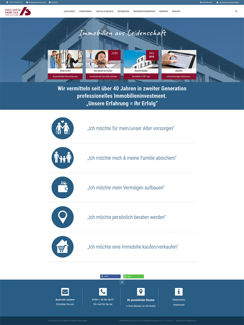 Immobilien-Webseite